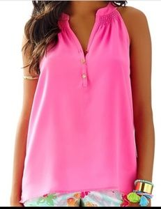 Lilly Pulitzer Bailey Pink Top XL
